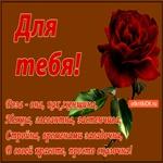 Роза для тебя!