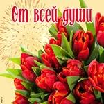 Красивые цветы тебе от всей души